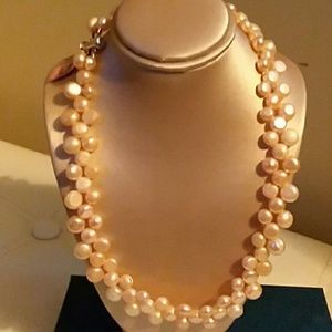 PEARLS, NECKLACE, FRESHWATER, SIZE 16""